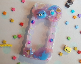Fits iPhone 6/6S / Handmade decoden phone case / Galaxy Rilakkuma