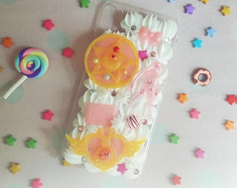 Fits iPhone X / Handmade decoden phone case / Sailor Moon