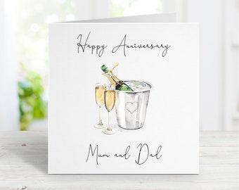 Personalised Anniversary Card | Anniversary Card | On Your Anniversary | To You Both On Your Anniversary | Happy Anniversary Card