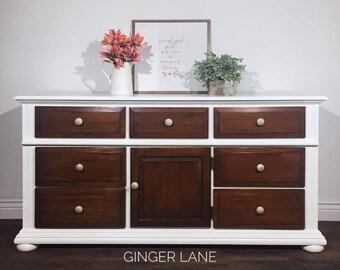 SOLD - Custom Painted Dresser