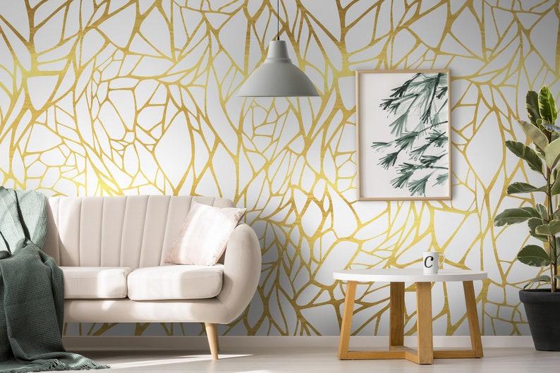 Removable Wallpaper Gold Retro Ornament Wallpaper Peel And Stick Wallpaper Wall Mural Removable Wallpaper Self Adhesive Wallpaper 202