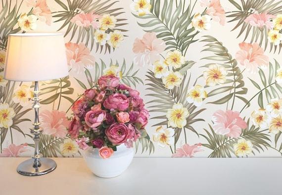 Pastel Flowers Decor Removable Wallpaper Pattern #173