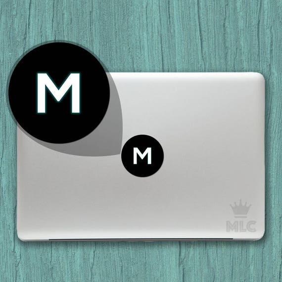 30 Rabatt Buchstabe M Macbook Pro Gluhenden Aufkleber Etsy