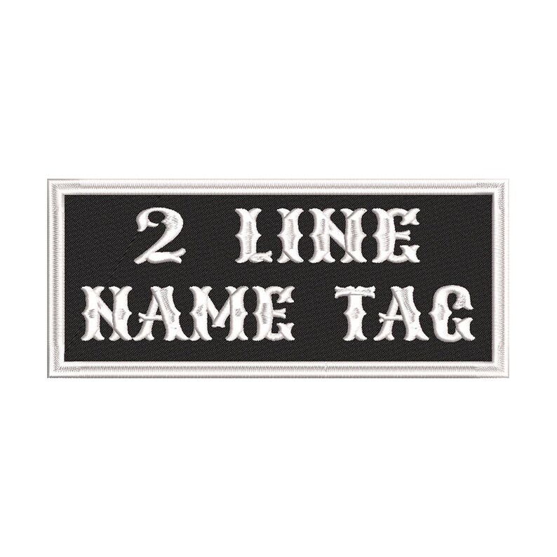 """4/"""" x .75/"""" NAME TAG Embroidered Patch"""