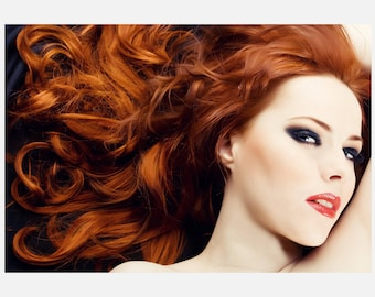 Red Beauty hair Salon Poster or Canvas