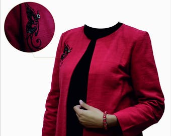 Jacket with embroidered Butterfly