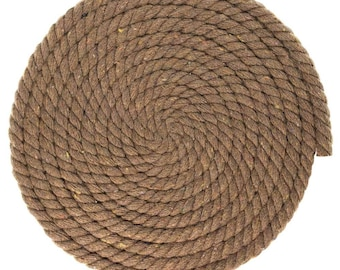 100ft - 1/4 inch Macrame Cord - 6MM Cotton Rope - Super Soft Weaving Cord - Three Strand Twisted Cotton Rope - Black Tan Gray Macrame Rope