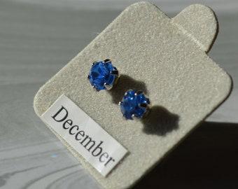 December Tanzanite Birthstone Earrings