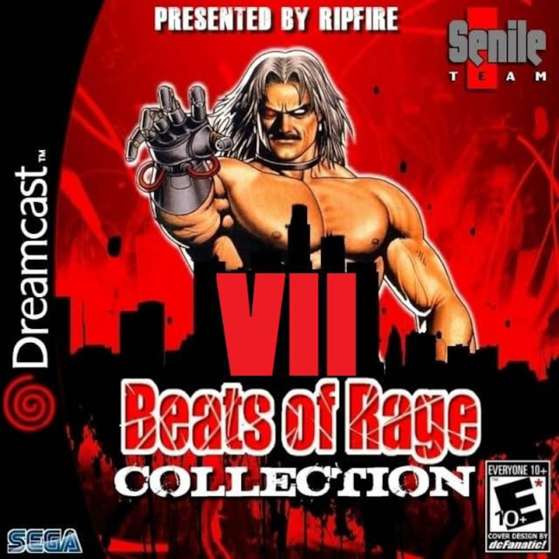 Beats of rage collection volume 7 custom Sega dreamcast game homebrew  reproduction