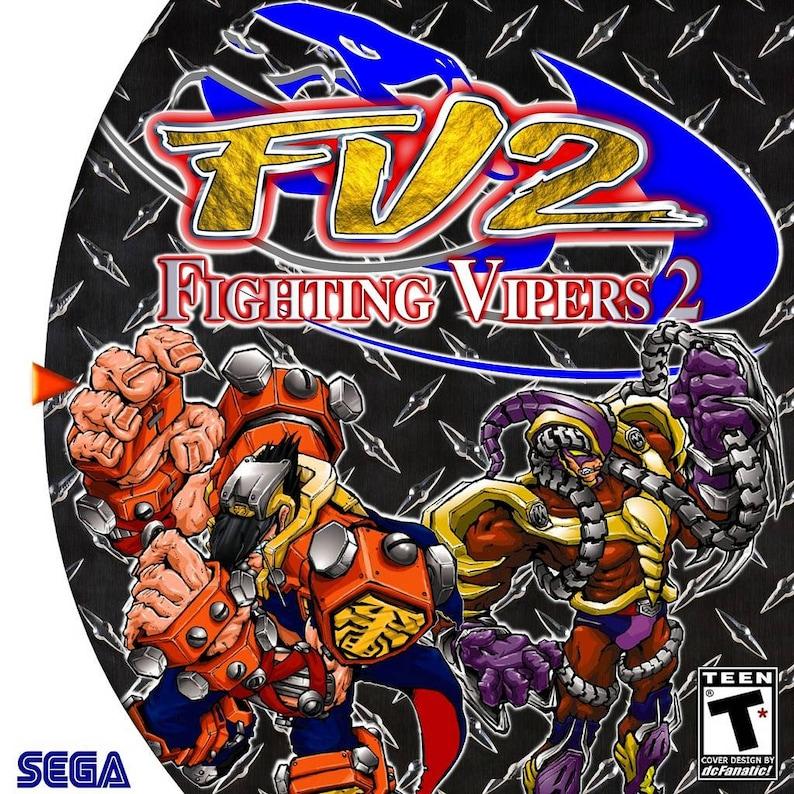 Fighting Vipers 2 Sega dreamcast reproduction custom game