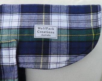 Blue Plaid Winter Dog Coat
