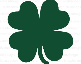 image relating to Printable 4 H Clover called Clover svg Etsy