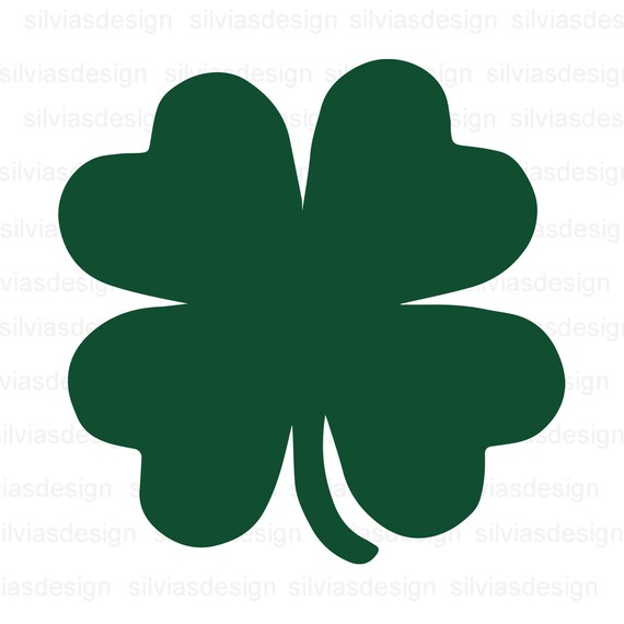 Saint Patricks Day Svg Svg Saint Patricks Day Clover Svg Shamrock Svg Four Leaf Svg Clover Leaf Svg Cricut Cut Files Silhouette Files