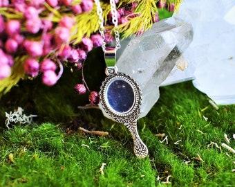 MINI MIRROR Necklace  Wicca   Witch Jewelry  Min Silver Mirror Pendant  Cute Mirror  Real Mirror  Pagan  Mystical Mirror
