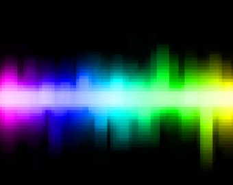 Landscape Digital Rainbow Sound Wave print illustration vibrant geometric shapes,printable art,multicolor skyline in blocks,instant download