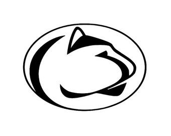penn state vinyl etsy rh etsy com penn state logo paint stencil penn state nittany lion logo stencil