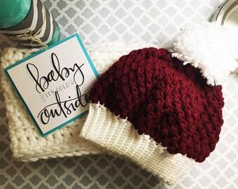 Madalynn Puff Stitch Hat - Crochet