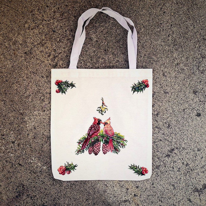 birds on bag bird hand bag bird purse bird lover bird backpack gift for bird lover Bird tote bag cardinal tote I love birds
