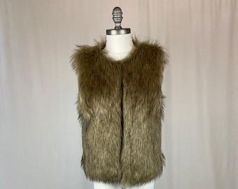 1990s Vintage Faux Fur Vest
