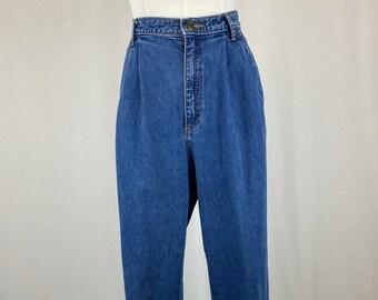 Denim LizWear Mom Jeans High Waisted Pleated