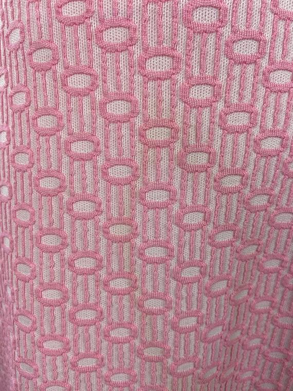 Vintage 1960s 1970s Pastel Pink Dress - image 2