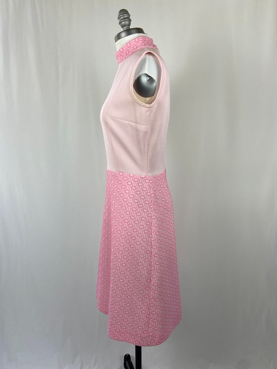 Vintage 1960s 1970s Pastel Pink Dress - image 6