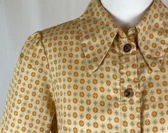Reproduction 1940s Shirt Waist Dress