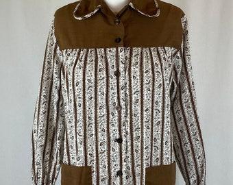 Vintage 1950s House Dress Shirt Apron