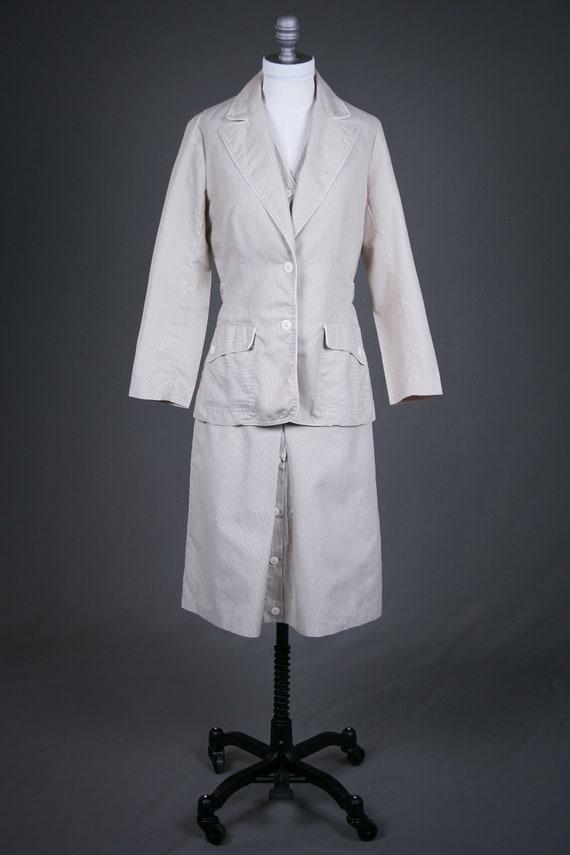 Vintage 1980s Ladies Summer Skirt Vest Suit