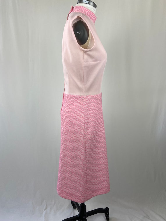 Vintage 1960s 1970s Pastel Pink Dress - image 5