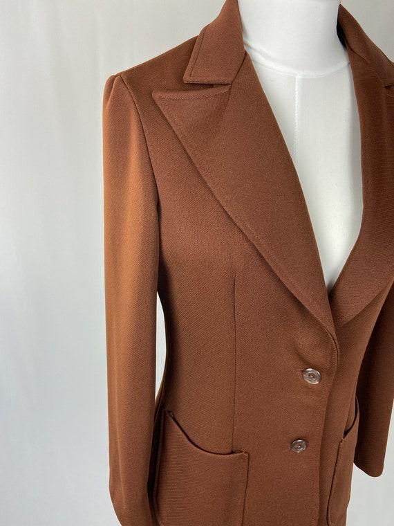Paris London New York Vintage Leather Jacket Beautiful Cognac Brown 1960-70s ARGENTINA