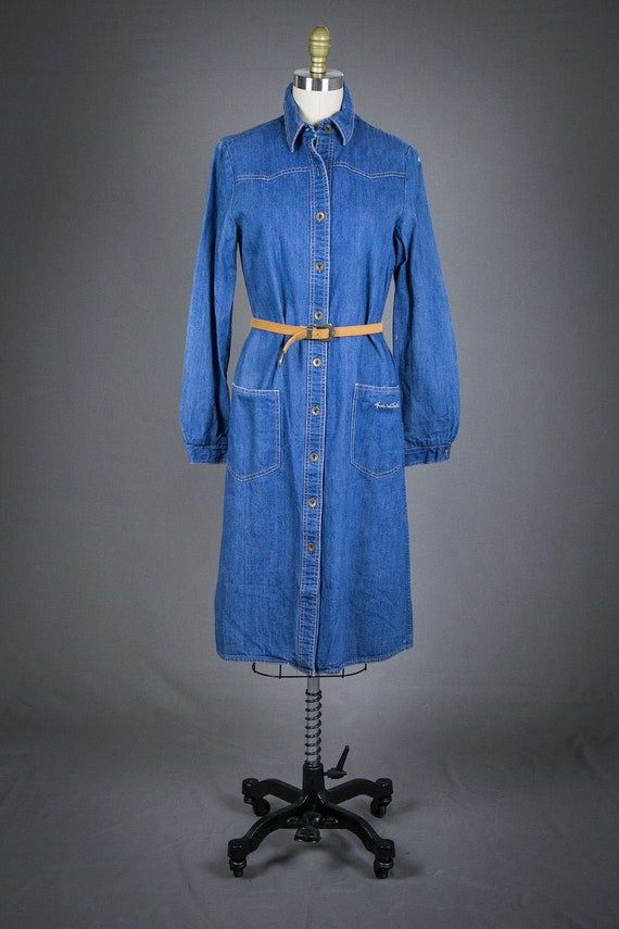 Vintage 1990 Gloria Vanderbilt Denim Dress with Be