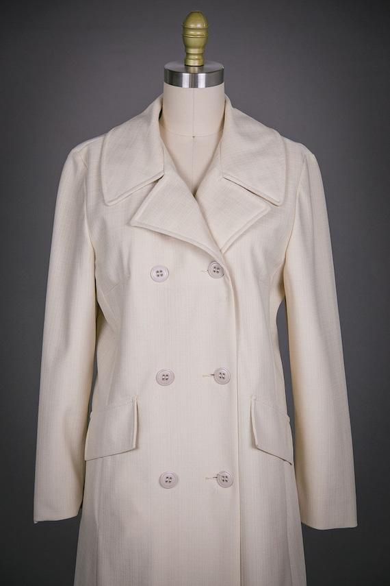 1980s Vintage Sears Ladies Coat - Yellow Beige