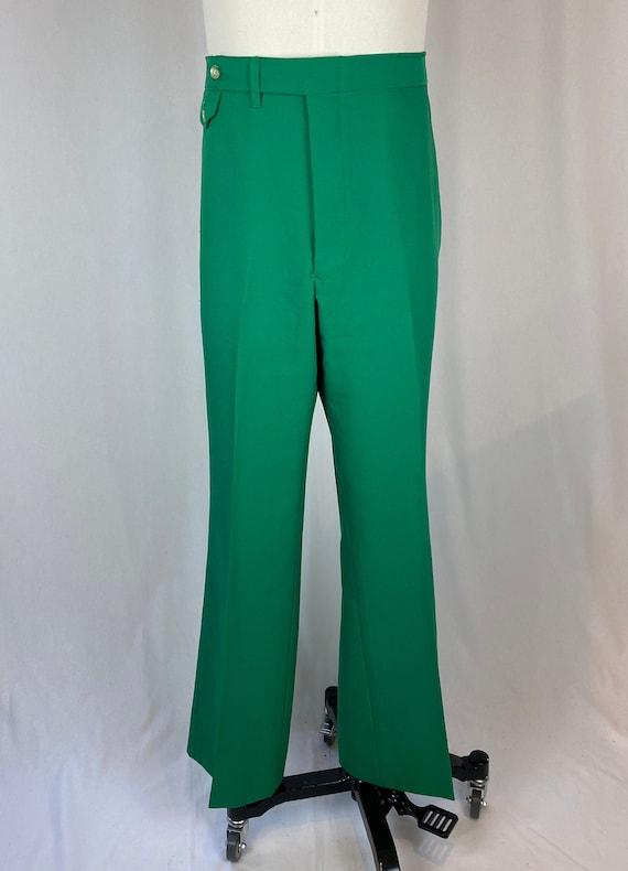 Men's Vintage 1980s 1990s Emerald Green Pants