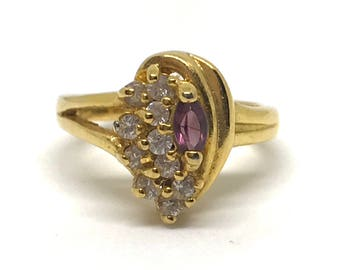 Gold Mixed Stone Ring