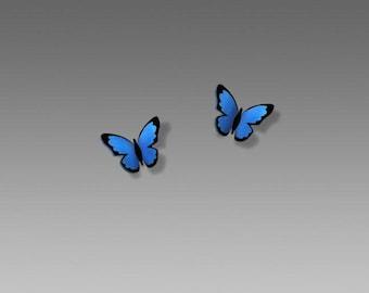 Blue Morpho Post Earrings