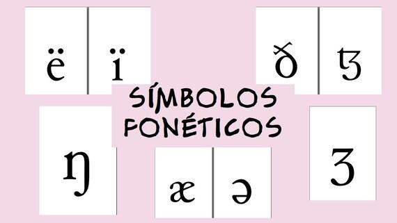 Láminas Decorativas Símbolos Fonéticos Para Decorar Imprimibles Orientación Vertical A4 A5
