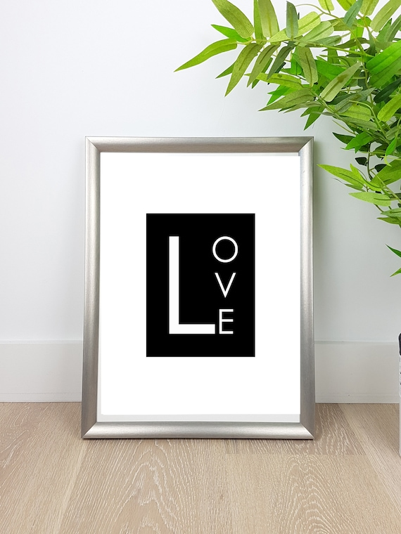 White and Black print Love Words photo print Love sign. Love | Etsy
