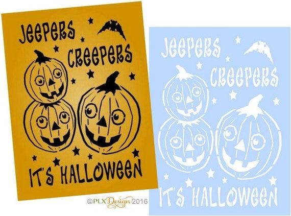 JEEPERS CREEPERS Its HALLOWEEN Vintage Style Pumpkin