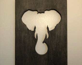Elephant sign, scroll saw art, great gift