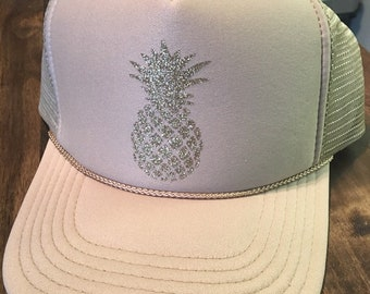 2a513f26494 Pineapple hat-vacay hat-tropical hat-trucker hat-beach trucker hat
