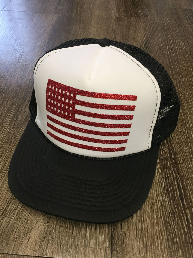 American Flag Trucker Hat-Flag Hat-Trucker Hat-4th of July Hat-Memorial Day  Hat-River Hat- Pool Hat