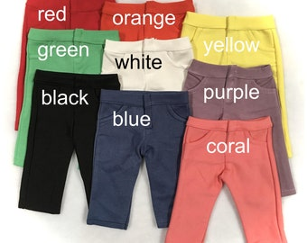 Doll Pants for 18-inch dolls, blank solid color choice