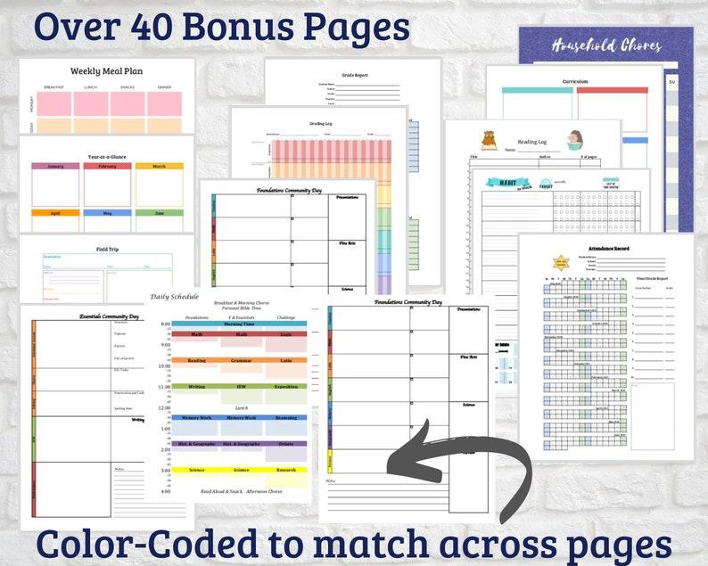 2020-2021 CC Homeschool Life Planner Printable Calendar | Etsy