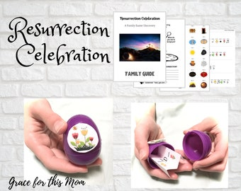 Resurrection Celebration - A Family Easter Discovery - Printable Pack of 12 Lessons, Activities, and Bible Study leading up to Easter