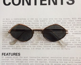 829441d499 Vintage 90s hexagon sunglasses with grey black lens and rose gold frame