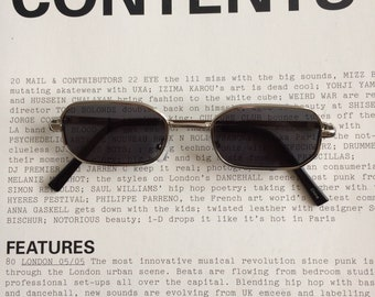 d355c5c6f0c 90s vintage blue grey lens with silver frame rectangle rounded glasses UV  100