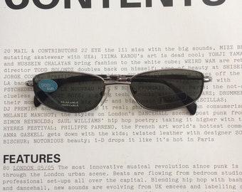 6ca53080a2c9 Vintage 90s glasses/Eyewear silver frame