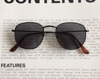 730a59aab3 ... spain 90s vintage square round black lens with black frame round like ray  ban uv 100