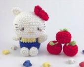 Kitty Crochet Cute Amigurumi Handmade Plush Apple
